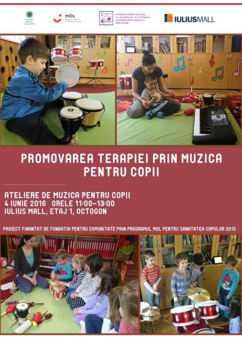 Promovarea terapiei prin muzica pentru copii