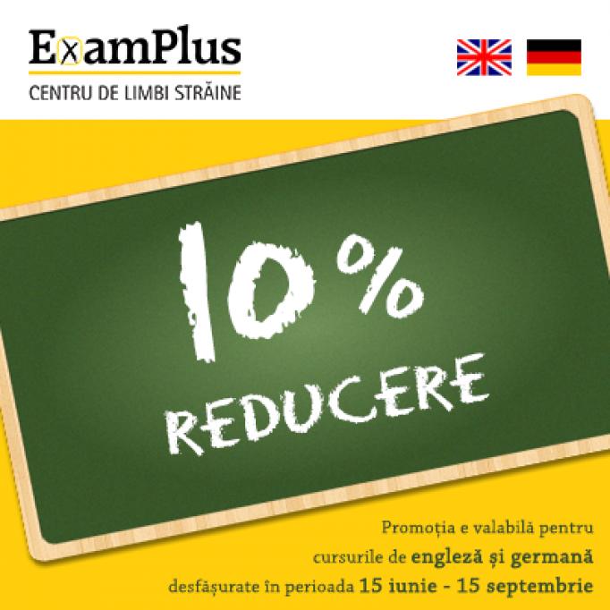 CURSURI DE VARA LA EXAMPLUS TIMISOARA - 10% REDUCERE
