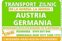 Transport rapid, persoane,colete, Austria-Germania. Zilnic