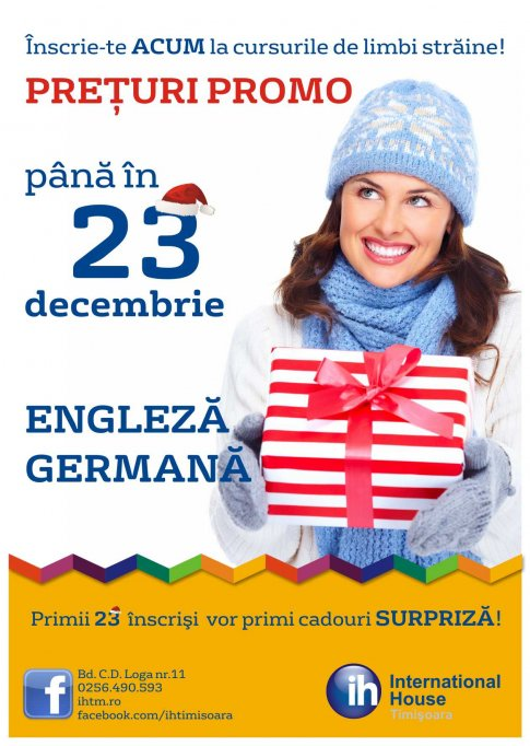 Cursuri de engleza si germana la International House Timisoara
