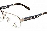 Ochelari de vedere Baldinini femei BLD1577 Argintiu Negru Insertie Albastru