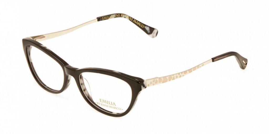 Ochelari de vedere Emilia Line femei IV_62-005 Negru Auriu