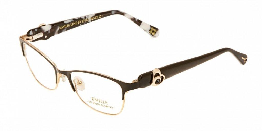 Ochelari de vedere Emilia Line femei IV_62-007 Negru Auriu