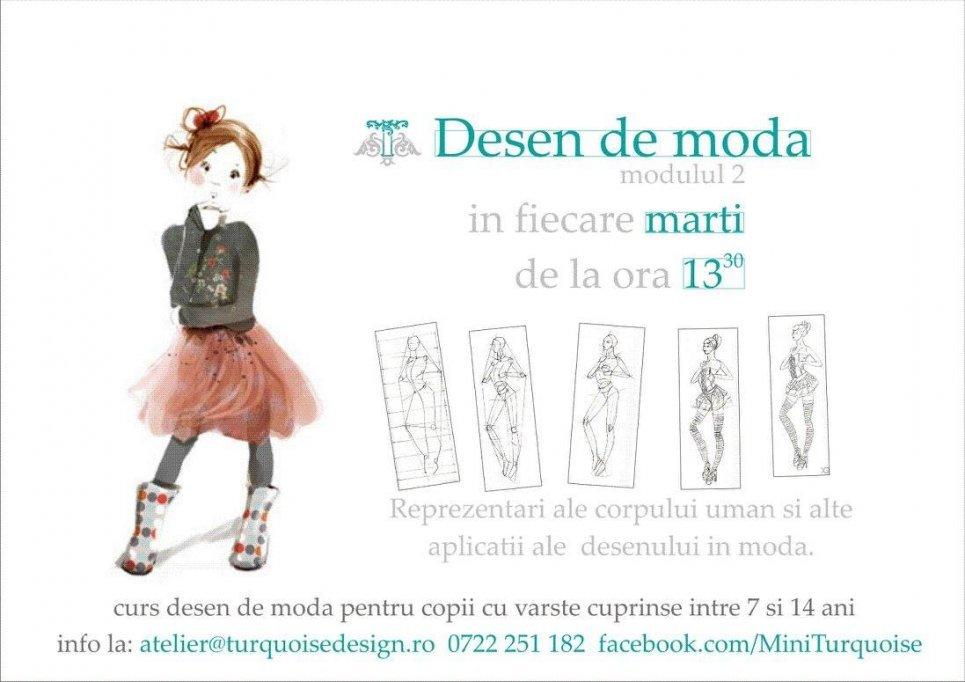 Cursuri de desen si design de moda destinate copiilor