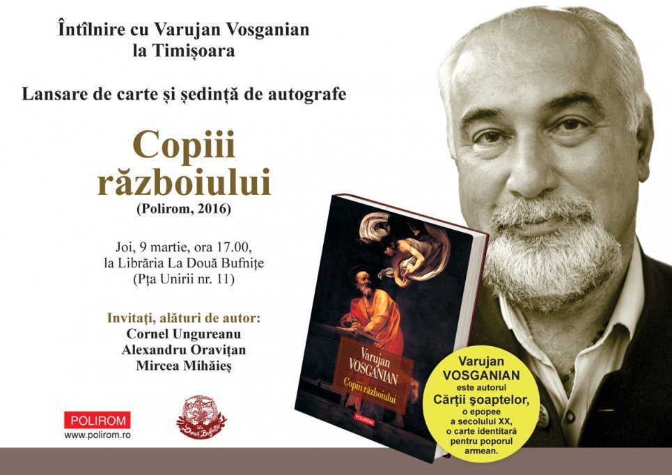 Varujan Vosganian despre romanul Copiii războiului