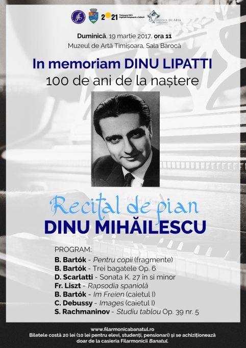 In memoriam DINU LIPATTI - 100 de ani de la naștere