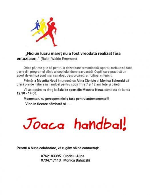 Cursuri de handbal in Timisoara pentru copii