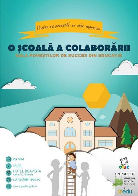 Gala poveștilor de succes din educație- O școală a colaborării-