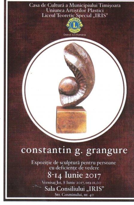 Expozitie de sculptura pentru persoane cu deficiente de vedere - Constantin G. Grangure