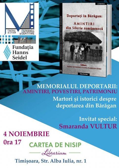 """Lansarea cărții """"DEPORTAȚI ÎN BĂRĂGAN: Amintiri din Siberia românească"""""""