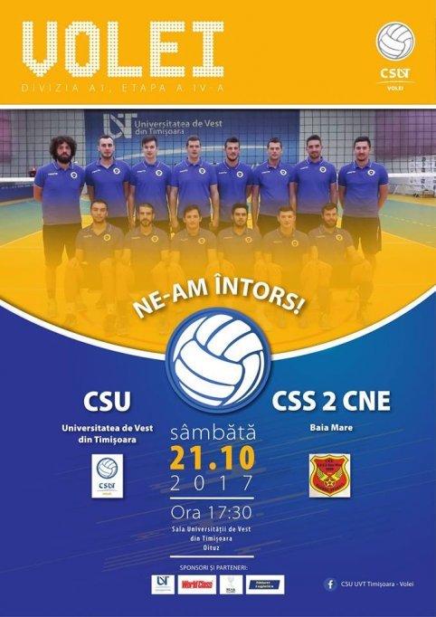 CSU Universitatea de Vest Timisoara - CSS 2 CNE Baia Mare