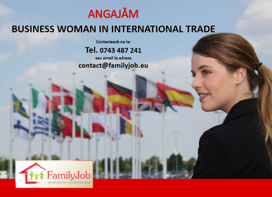 Business woman in international trade