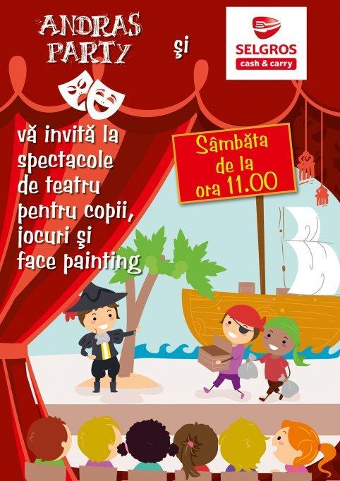 Teatru pentru copii, jocuri si face painting la Selgros Timisoara