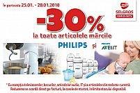 Reducere 30% la articolele marca Philips și Philips Avent