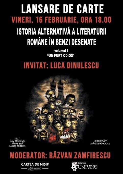 Lansare Istoria Alternativa a Literaturii Române în Benzi Desenate