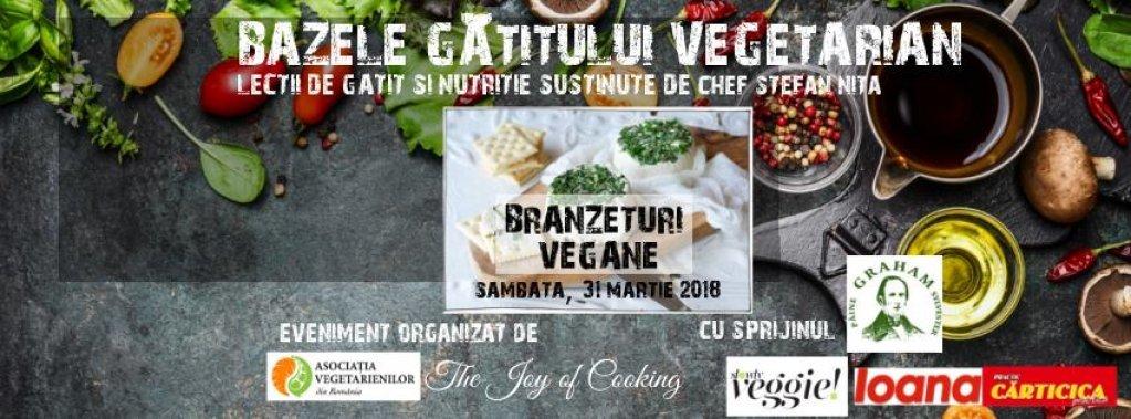 """Curs de gatit """"Branzeturi vegane"""" cu Chef Stefan Nita"""