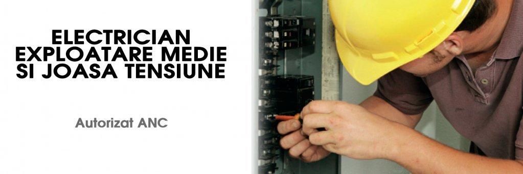 Curs autorizat de electrician de medie si joasa tensiune
