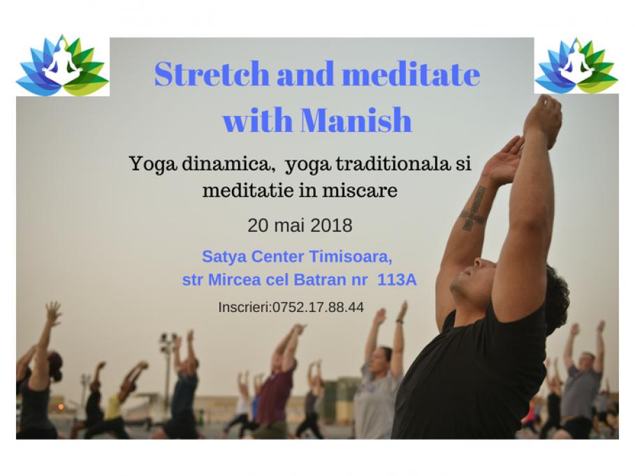 Yoga si meditatie cu Manish
