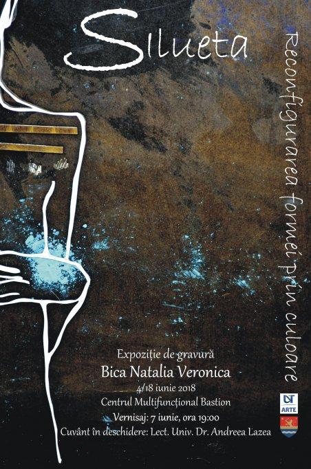 Expoziția de gravură experimentală- Bica Natalia Veronica: SILUETA. Reconfigurarea formei prin culoare