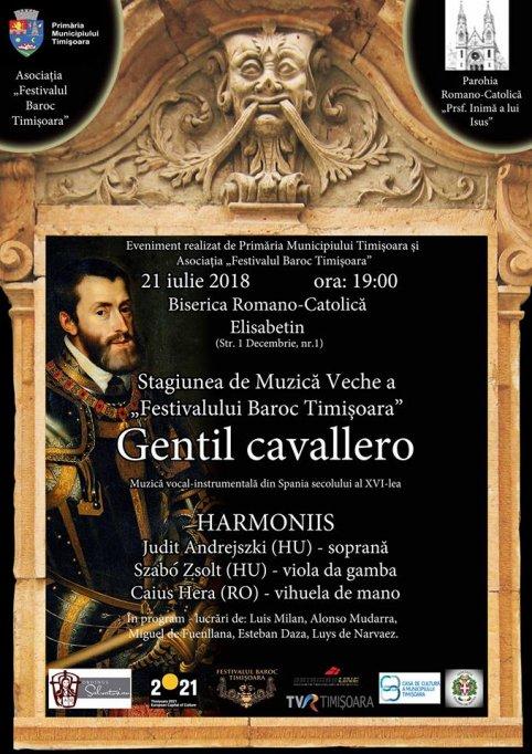 """Recital """"Gentil Cavallero"""" - Muzică din Spania sec. XVI"""