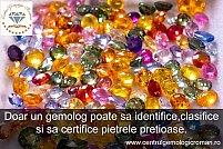 Identificarea, clasificarea si certificarea pietrelor pretioase colorate