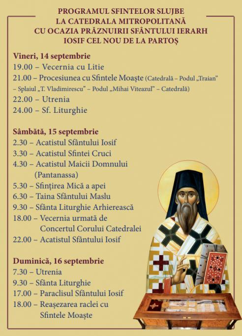 Praznuirea Sfantului Iosif de la Partos