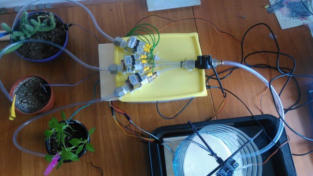 Sistem de irigare automat cu posibilitate de comandare de la distanta