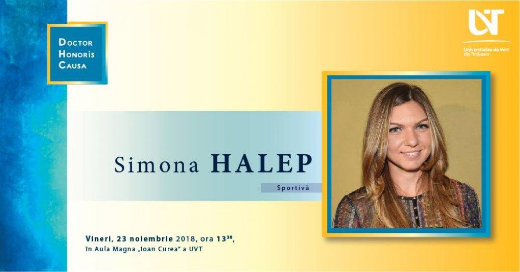 Simona Halep - Doctor Honoris Causa al UVT