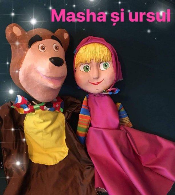 Ursul pacalit de Masha / teatru de papusi