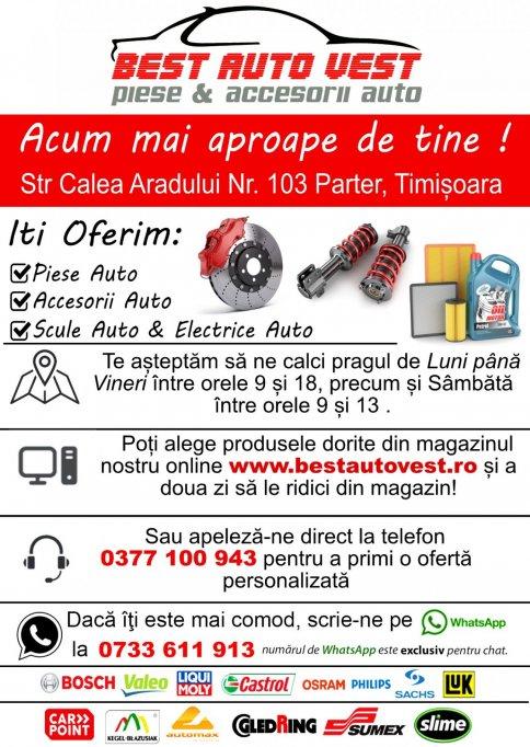 Comandă Piese Auto din fotoliul de acasă de la BestAutoVest.ro – Showroom Timișoara