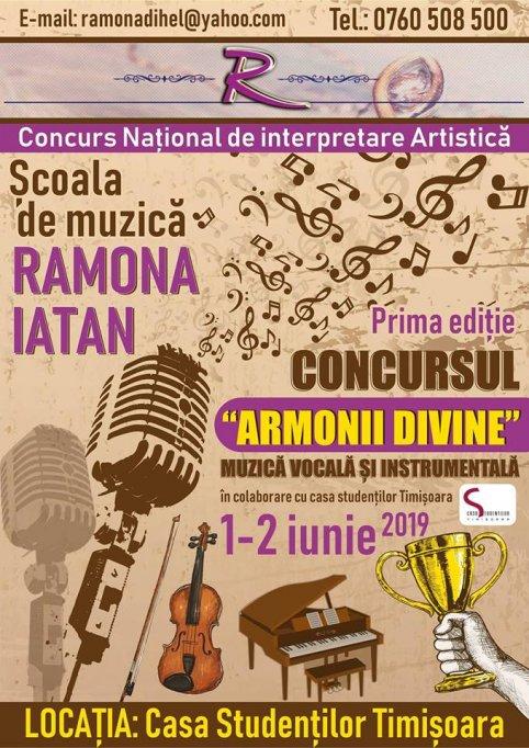 """Concursul Național de Interpretare Artistica """"ARMONII DIVINE"""""""