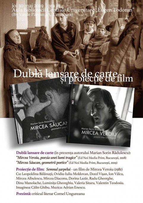 Dubla lansare de carte si proiectie de film in prezenta autorului Marian Sorin Radulescu
