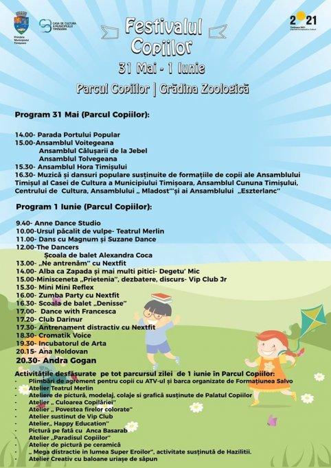 Ziua Copilului - 1 iunie in Parcul Copiilor