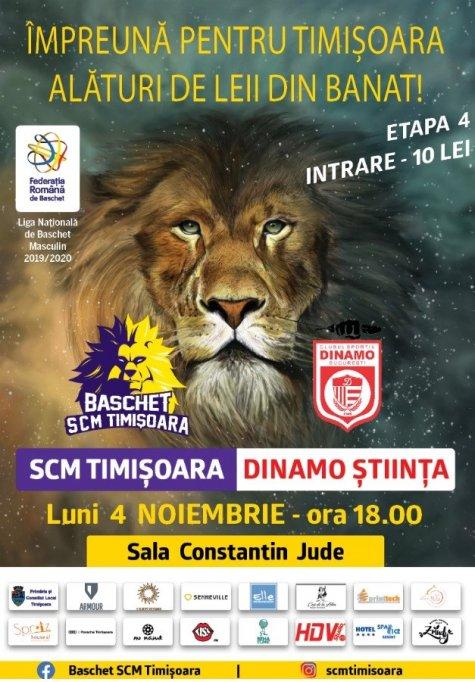 Baschet SCM Timisoara - Dinamo Stiinta Bucuresti