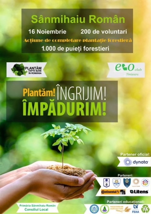 Noiembrie – luna în care vom număra 1.000.000 de puieți plantați la nivel național