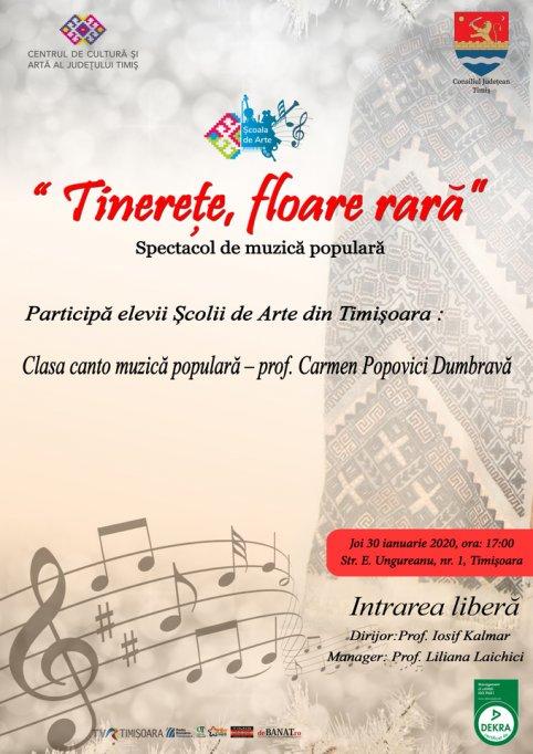Tinerețe, floare rară - spectacol al elevilor Școlii de Artă Timișoara