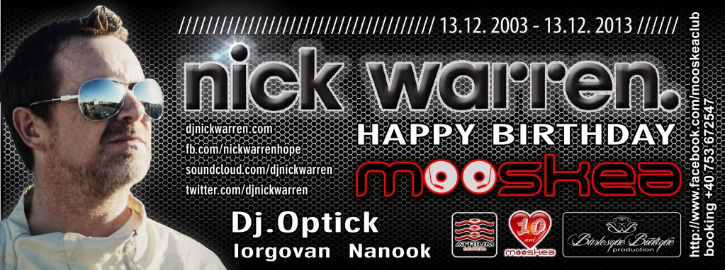Nick Warren at Mooskea