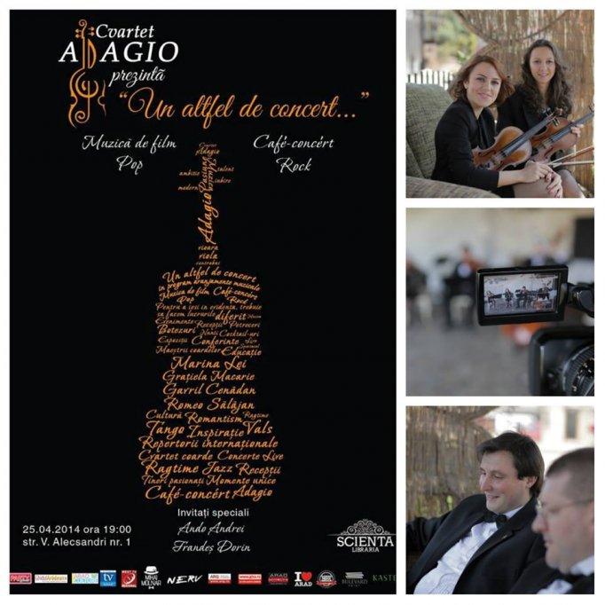 """Cvartet Adagio prezintă """"Un altfel de concert..."""""""