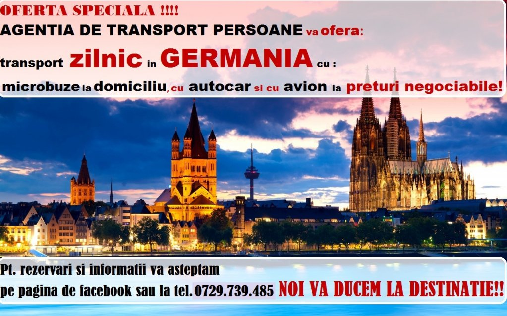 Transport persoane zilnic Germania