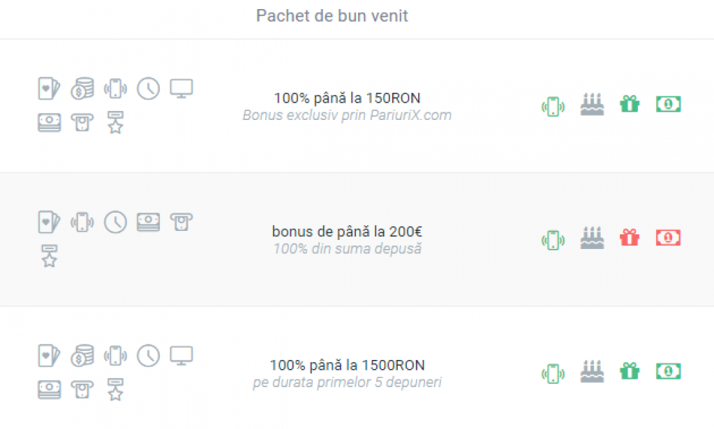 Bonusuri speciale la pariuri online doar prin PariuriX.com