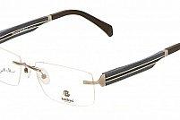 Ochelari de vedere Baldinini femei BLD1578 Negru Insertie lemn Albastru