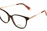 Ochelari de vedere Emilia Line femei IV_62-008 Negru Auriu Rosu