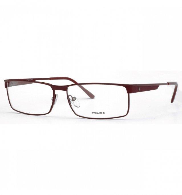Ochelari de vedere Police Unisex V8455 - culoare Rosie