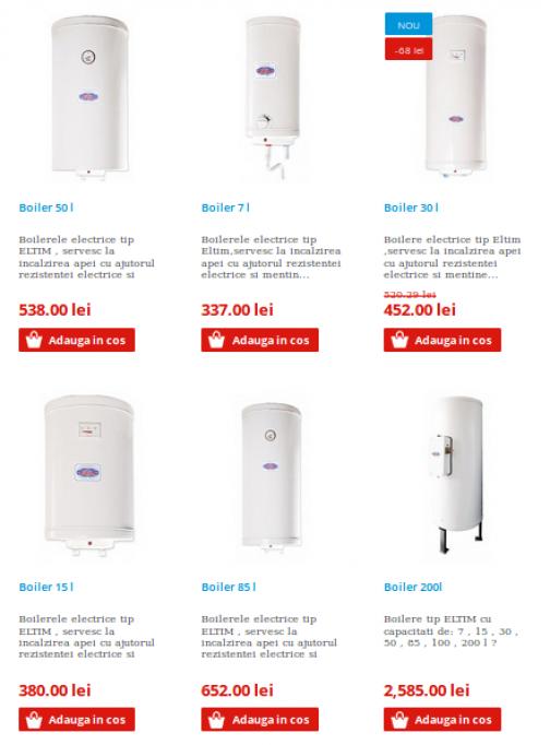 Boilere electrice la oferta in Arad
