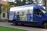 Caravana jandarmeriei recrutează tineri din județul Arad