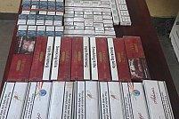 28 de cartușe de țigări netimbrate, ridicate în vederea confiscării în această dimineață de Jandarmii Arădeni
