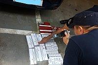 92 pachete cu țigări netimbrate, ridicate în vederea confiscării de Jandarmii Arădeni