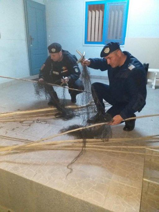 Ustensile de pescuit ilegale confiscate de jandarmii arădeni