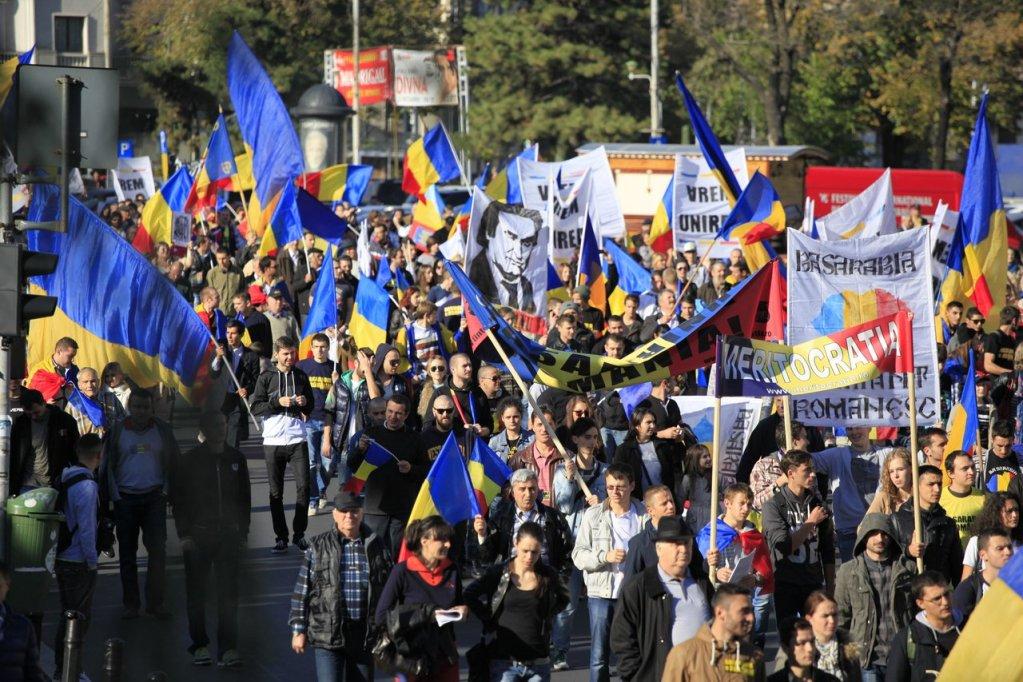 Romanii au manifestat pentru Unire