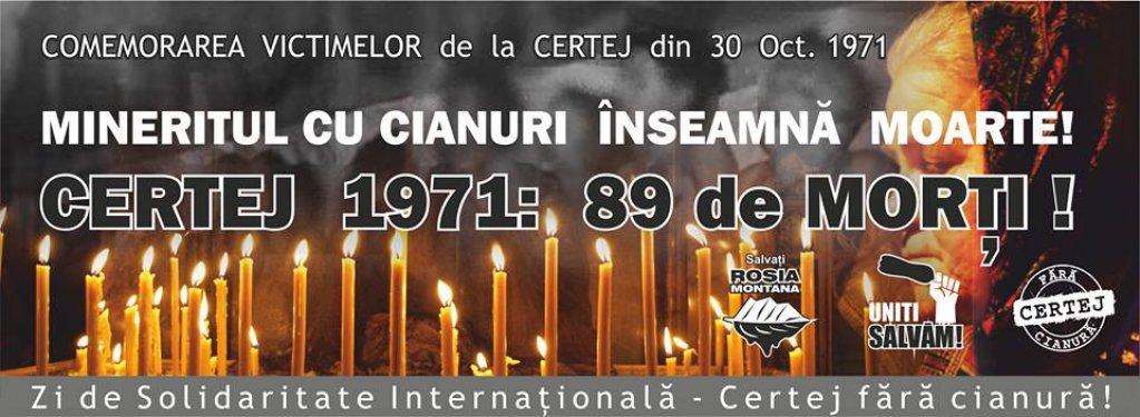 42 de ani de la accidentul de la mina de aur de la Certej
